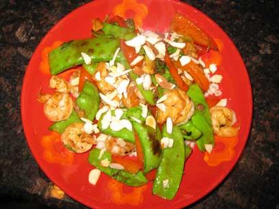 Shrimp-and-snow-peas-stir-f